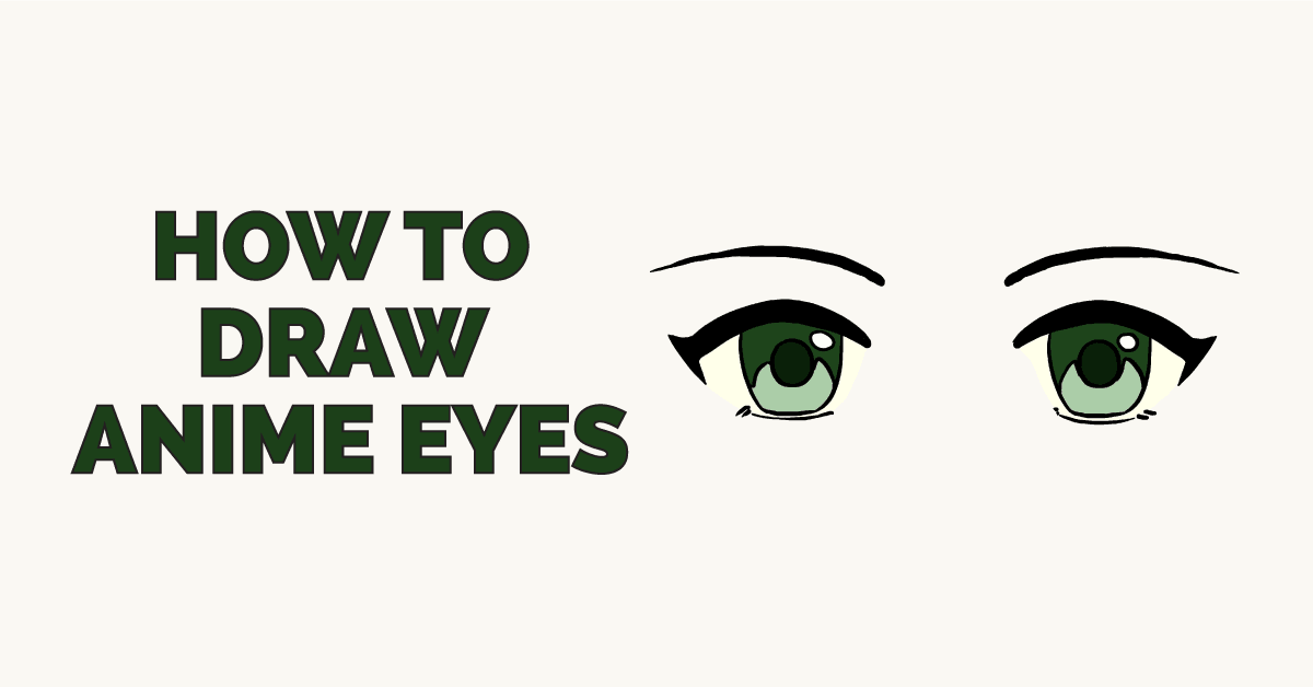 Easy Drawing Guides On Twitter How To Draw Anime Eyes Easy To