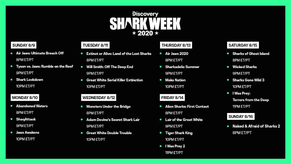 ⚠️ SHARK WARNING ⚠️  #SharkWeek is here! Check out the full lineup and tune in live. 🦈 https://t.co/QLLbSpmIjM