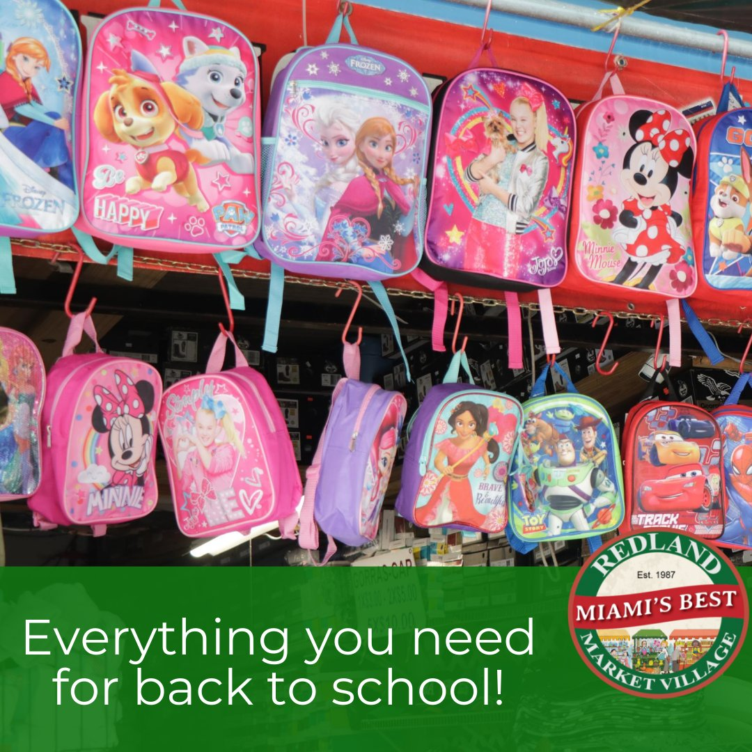 Everything you need for back to school! http://redlandmarketvillage.com  #redlandmarketvillage #redland #fleamarket #pulguero #miami #farmersmarket #plants #pets #organic #community #homestead #buylocal #shoplocal  #electronics #furniture #toys #antiques #barbershop #foodcourtpic.twitter.com/ZlmDBbECEX
