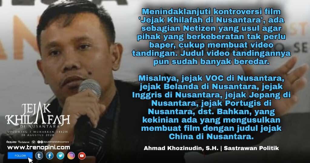 ADAKAH JEJAK PENJAJAH DI NUSANTARA ? . https://www.trenopini.com/2020/08/adakah-jejak-penjajah-di-nusantara.html?m=1… . Menindaklanjuti kontroversi film 'Jejak Khilafah di Nusantara', ada sebagian Netizen yang usul agar pihak yang berkeberatan tak perlu baper, cukup membuat v pic.twitter.com/7qSc1wA5Lc
