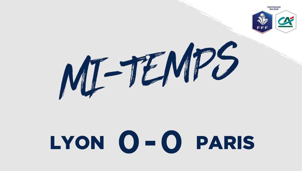 LYON 0-0 PARIS  C'est la pause !  #CôtéFoot #SportEcoleDeVie https://t.co/yiT2wEki7Q