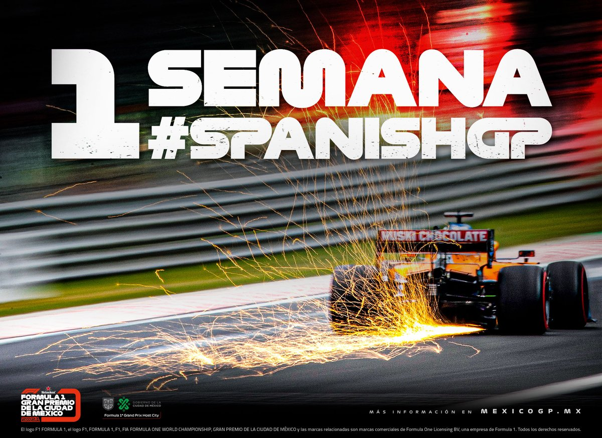 Solo una semana para la próxima carrera. 🇪🇸🏎 #SpanishGP #F1 https://t.co/7TyH1PHqjX