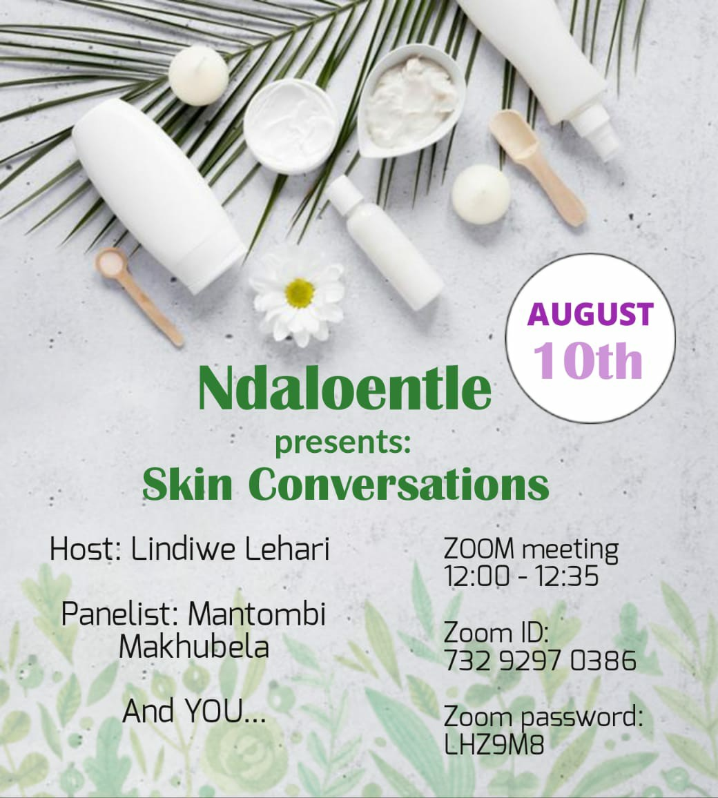 Ndaloenhle skin conversation ngomso at 12pm with @Mantombiii and @LindiweLehari Every skin is different and you have to select the correct skin care products and treatment routines to make the most of your skin; protecting it and retaining all its beauty. #OwnYourSkin