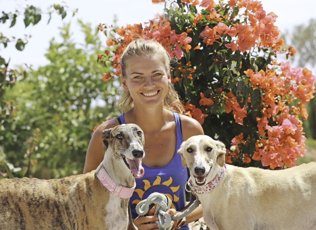 Such a great week with @HannaTaaramae amazing with the dogs, a natural in every way and in her own words... happiness is a rescued galgo 😍. Thank you Hanna for all your wonderful help ❤️🤩 #galgosdelsol #volunteer