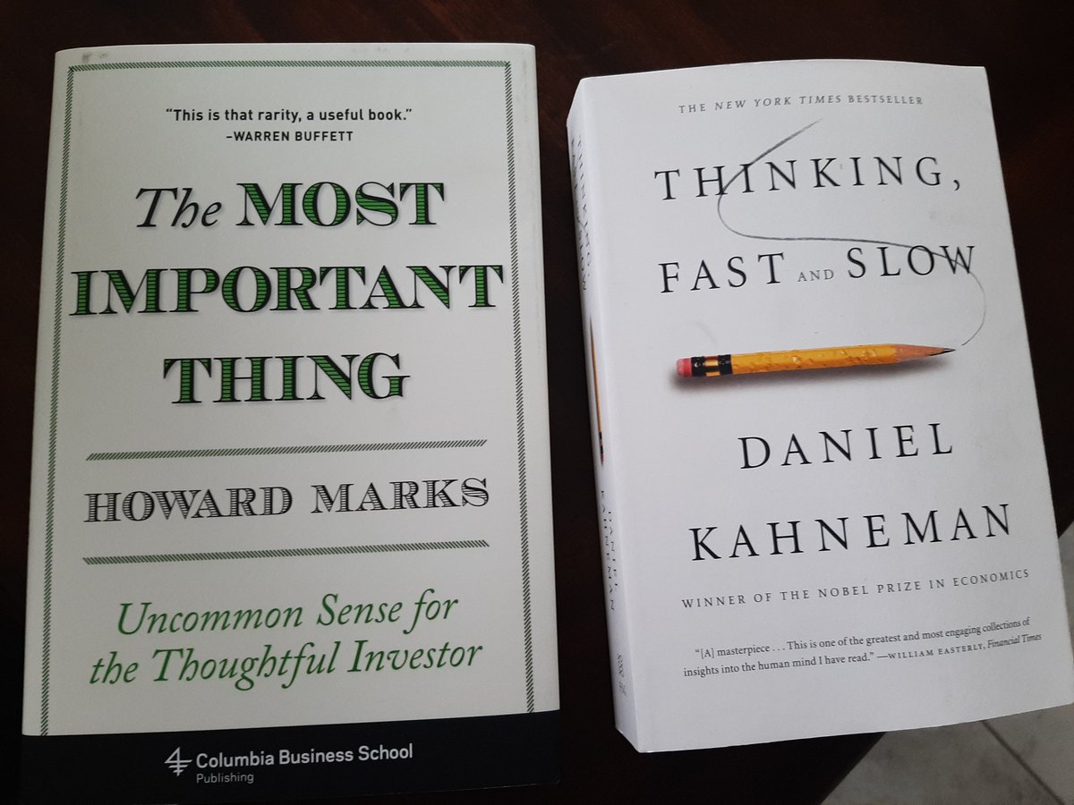 Two more books to add to the list!!! Really excited to dive into these! What are you currently reading right now? What's next on your list?  #leadersarereaders #BookLoversDay #howardmarks #danielkahneman #bookspic.twitter.com/6H4wgc1RfL