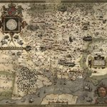 Image for the Tweet beginning: This map is dated 1575