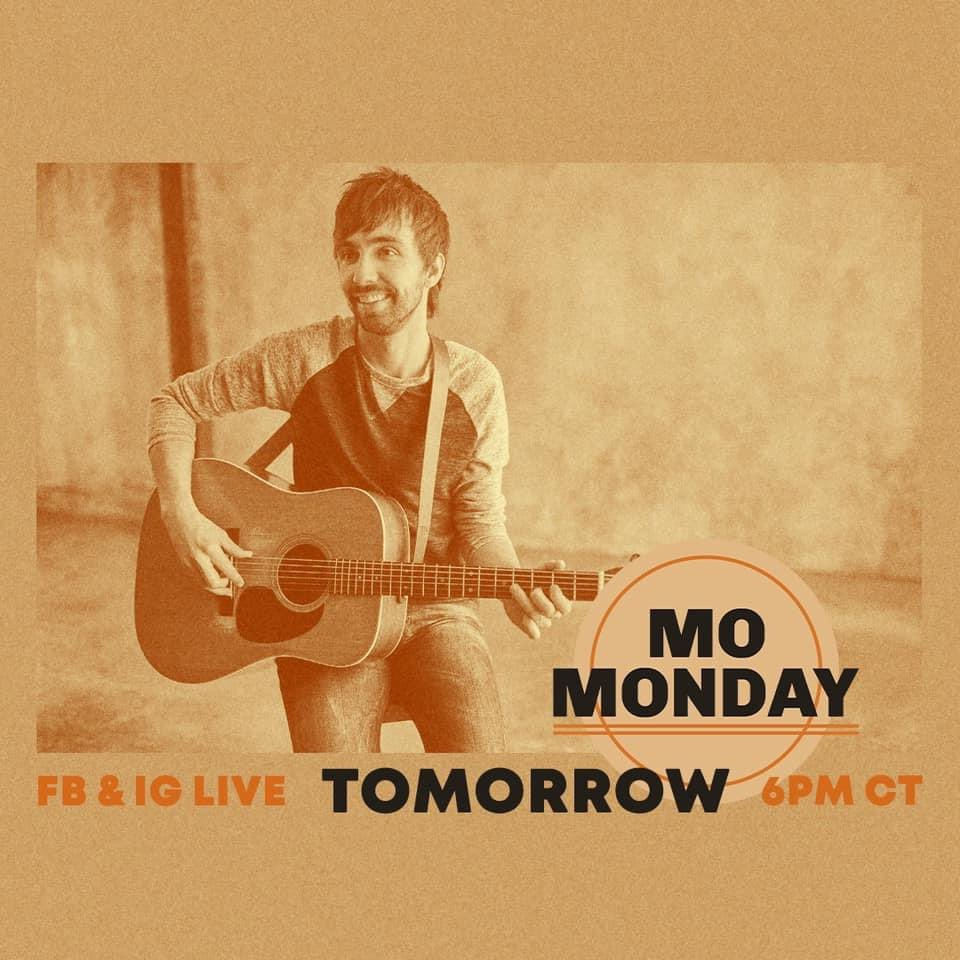 #TUNEIN TOMORROW AT 4:00PM CT for #MoMonday with @MoPitney on Facebook