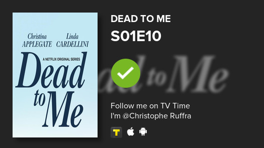I've just watched episode S01E10 of Dead to Me! #deadtome  #tvtime https://tvtime.com/r/1rY4w pic.twitter.com/pl15iyW3JA