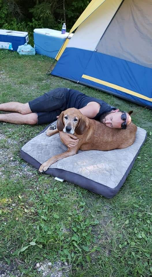 Some quality time this weekend with Toby #mansbestfriend #Campingpic.twitter.com/tri0uXsyvT