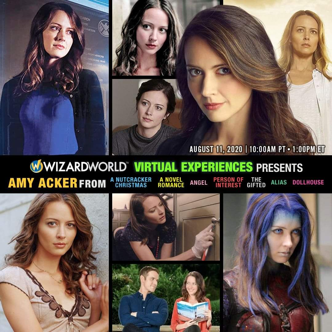 Join @AmyAcker THIS TUES (Aug 11) 10am PT / 1pm ET & tune in to #HallmarkVirtualExperiences  Virtually attend sessions on comps & mobile.  Enjoy a FREE panel! Participate in personal live & recorded videos & get autos w/ additional purchases!  🎟️