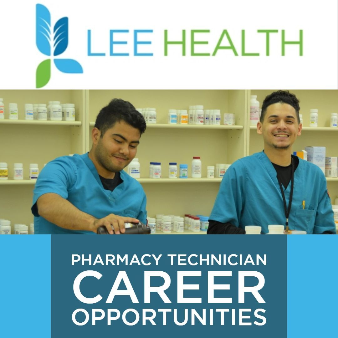 #Pharmacy Technician #career opportunities at #LeeHealth. If you are a REGISTERED Pharmacy Tech, join our friendly teams in hospital or retail settings.   Full time positions with amazing benefits in Cape Coral and Fort Myers, FL.  JOB Listing: https://t.co/aJciC8Em6M https://t.co/77qbwo7yiB