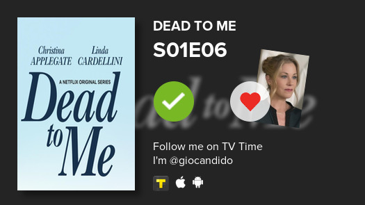 I've just watched episode S01E06 of Dead to Me! #deadtome  #tvtime https://tvtime.com/r/1rYcK pic.twitter.com/mddYgWcz8q