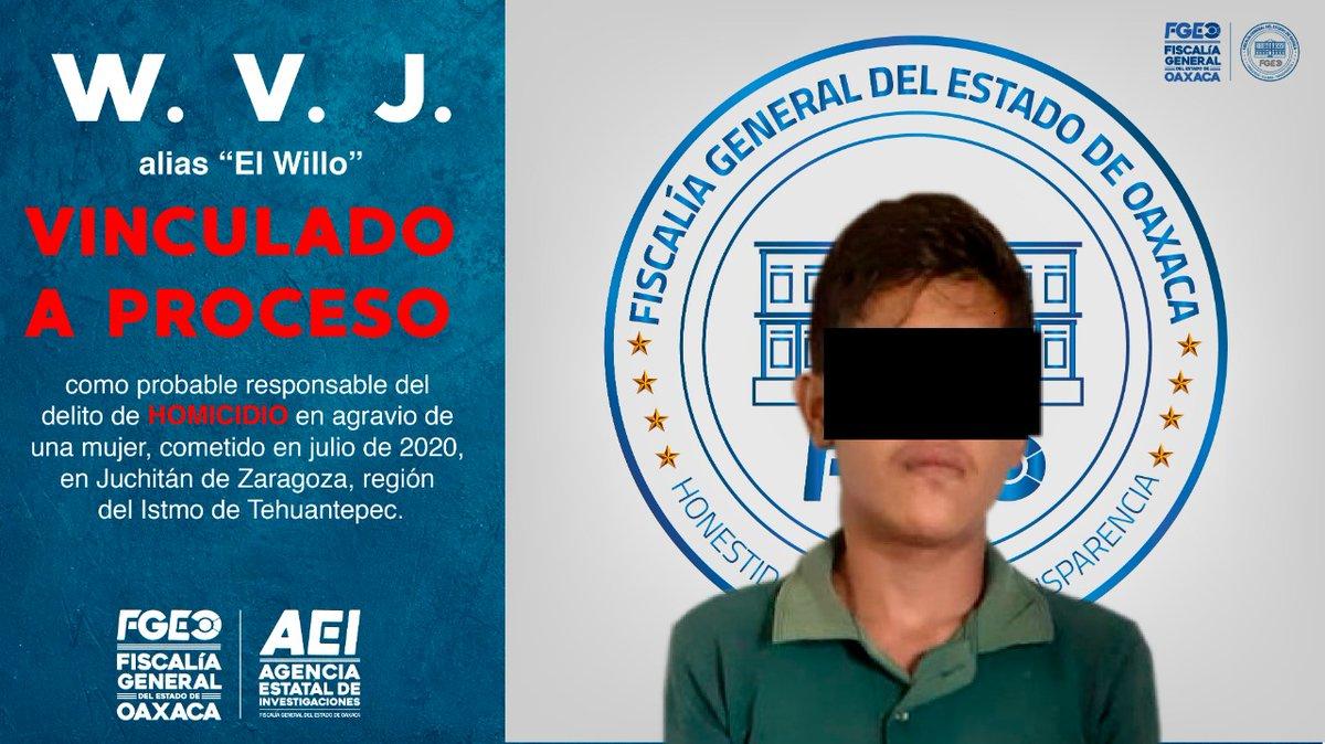 Logramos aprehender y vincular a proceso a otro probable homicida de una mujer; hechos cometidos en Juchitán de Zaragoza http://owl.li/JpKk30r3vqC @FISCALIA_GobOaxpic.twitter.com/atXbpvAT0L
