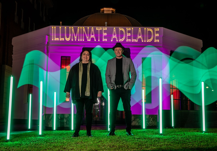 Getting set for Adelaide to welcome a bright new event to our city! Great work by the team at @EventsSA for all of their work on this one. https://t.co/ePyK4xOkva https://t.co/f95za8KYNK