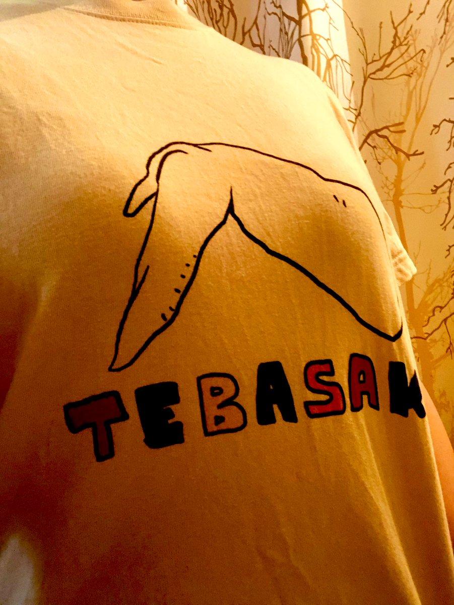めきさん@Meki_info の超cool TEABSAKI ティー🐔👕  いろいろ落ち着いたらこれ着てドヤ顔で故郷(名古屋)に帰ったるんや‼️とポチッ🖱  、、もちろんカラーは手羽先色よ❣️  TEBASAKITシャツ https://t.co/Zt9wsu9nyf #suzuri https://t.co/xzwXXn0GTK