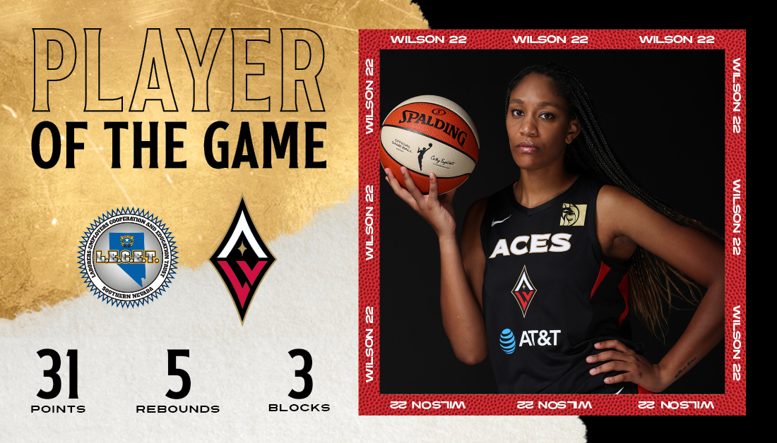 ♥️Players of the Game ♣️ SHEESH!!! GO OFF THEN @_AJAWILSON22!!! 31 PTS // 5 REB // 3 BLK #ALLIN ♦️♠️