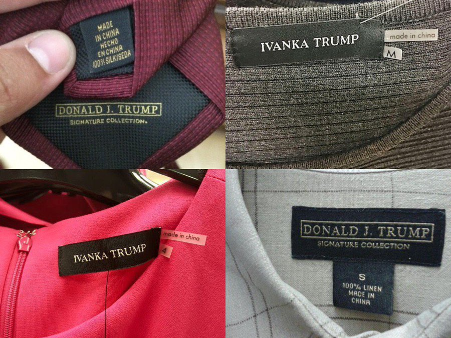 If you did not know about Trump products being made in China, you are late to the party. Let's not forget Ivanka too! #TrumpMadeInChina https://t.co/XDfH3JRoUZ