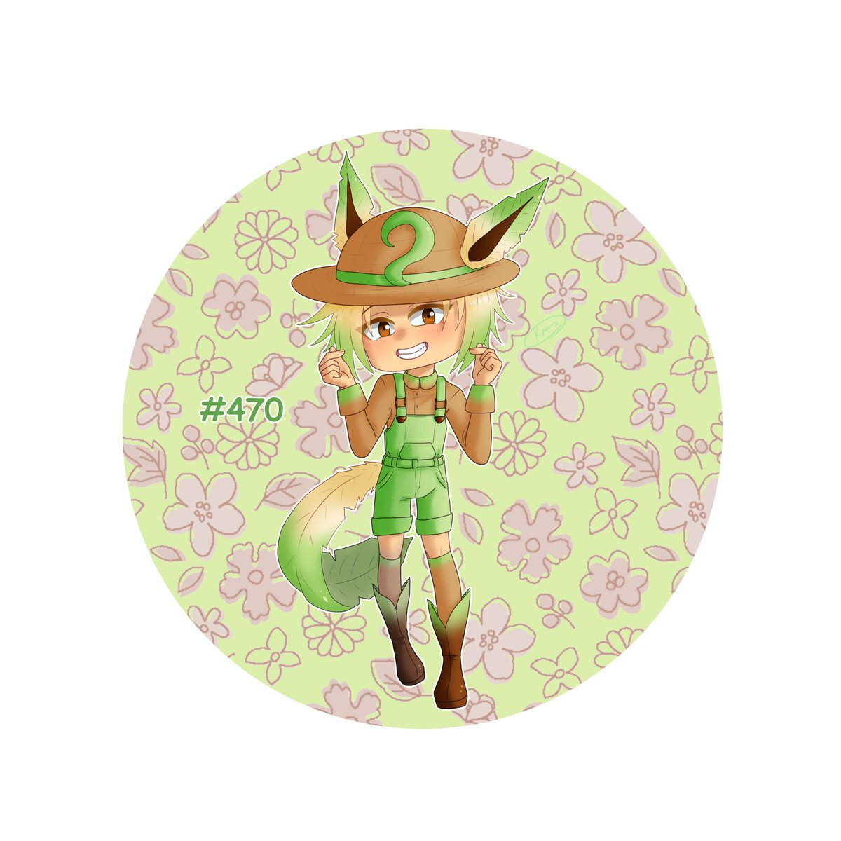 I positively adore how leafeon turned out y'all. Cute little gardener boy~ #rxyoc #oc #originalcharacter #digitalart #animestyleart #mangastyleart #art #chibi #pokemon #personification #eevee #eeveelution #leafeon #animeboy #cutepic.twitter.com/3PTVil2fDd