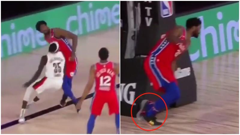【影片】76人再遭打擊!大帝搶籃板扭傷腳踝,官方宣佈提前退賽!