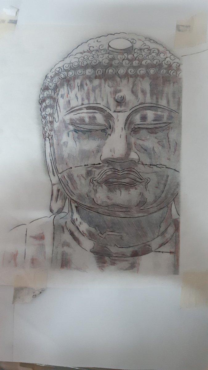 Artwork Tatoo Design Sketch Face Buddha of Kamakura(鎌倉大仏,KamakuraDaibutsu) #artwork #tattoodesign #tattooartist #sketch #drawing #Japan #Buddha #bangkok #Thailand #blackwork pic.twitter.com/APN4ibAnhu – at Bangkok Tattoo Studio 13 Thailand