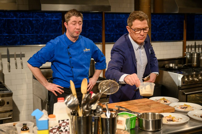 .@bflay got in the mix during tonight's dessert round! #Chopped