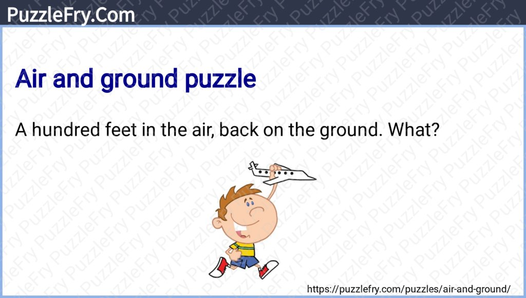 Air and ground puzzle #puzzles #brainteasers #riddles Reference - https://puzzlefry.com/puzzles/air-and-ground/…pic.twitter.com/yJj4VUeHoe