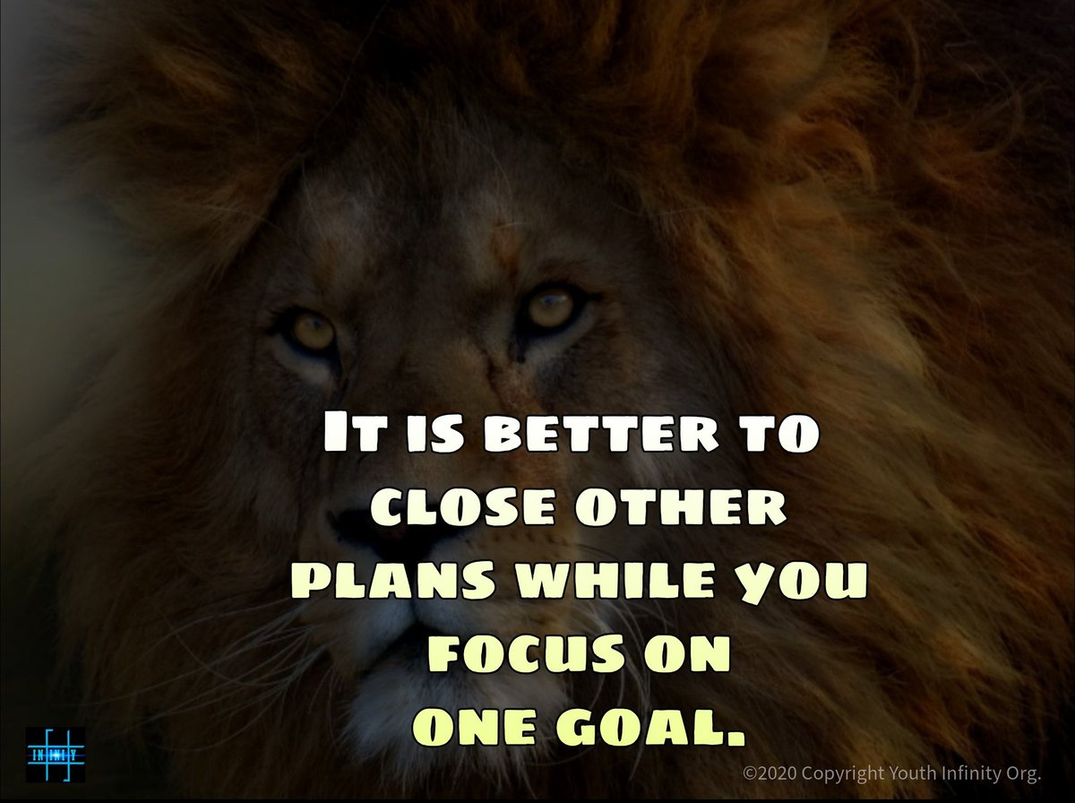 Focus on one goal . . . #infinity #hyoshan #motivation #Inspiration #mondaythoughts #startups #business #forbes #success #Entrepreneurs #positivity #lifecoach #psychology #mentorpic.twitter.com/0uu3QQJeQz