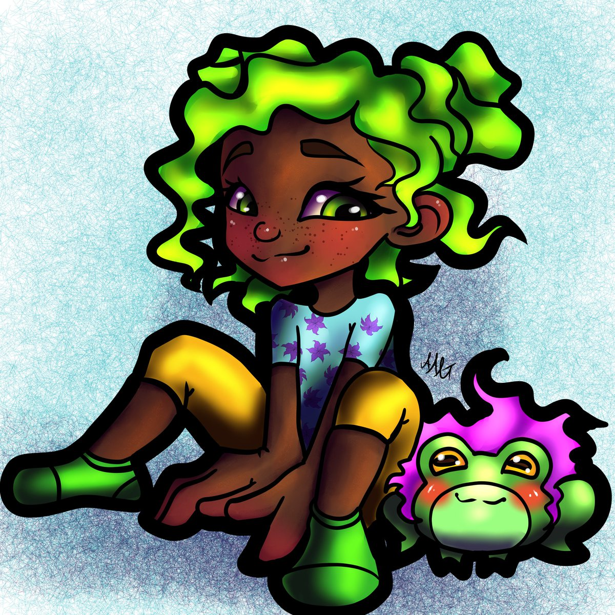 Really liked these two.. so I drew them again  decided why not give froggo a cute lil wig #frogust #frog #frogs #greenhair #greeneyes #pinkhair #cute #chibi #chibiart #cutechibi #cuteart #girl #characterart #character #digitalart #digital #CLIPSTUDIOPAINTpic.twitter.com/EzkfdlgqBX