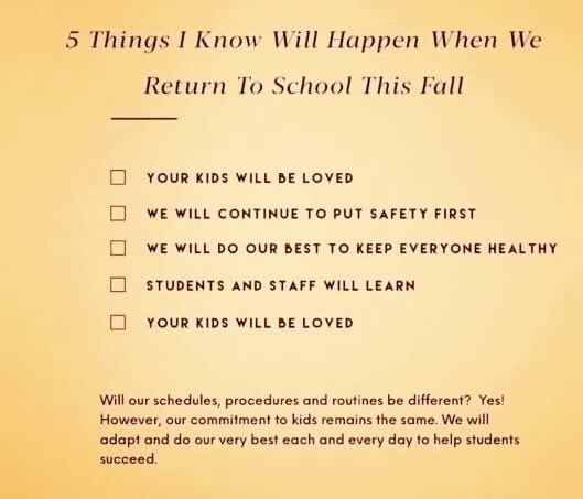With school opening up soon there are many uncertainties. Here are a few things I know. #relationships