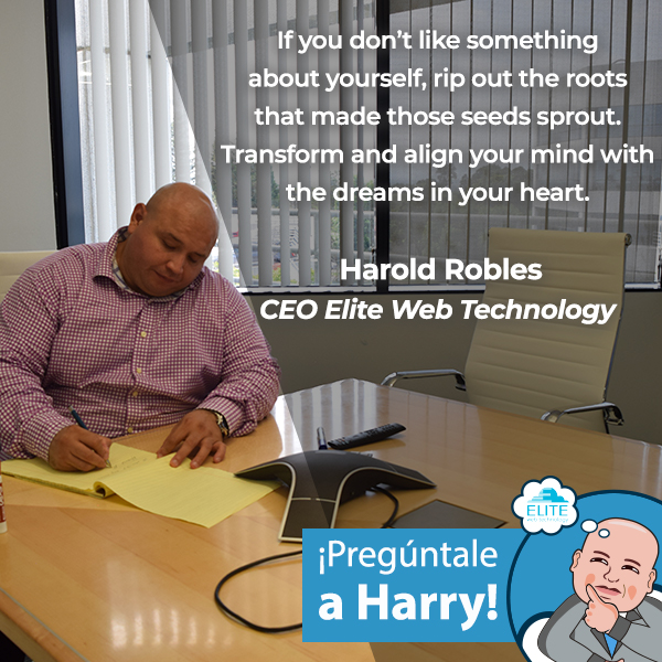 If you don't like something about yourself, rip out the roots that made those seeds sprout. Transform and align your mind with the dreams in your heart.   Harold Robles CEO Elite Web Technology   #dreamscometrue #ceo #ceolife #entrepreneur #business #elitewebtechnologypic.twitter.com/YY1Uk6Yrno
