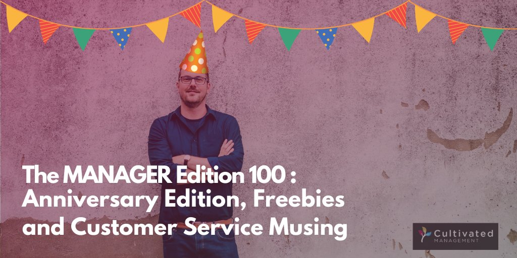 The Manager - Edition 100 is out now!  In this issue I share some freebies, muse about customer service and share some interesting food for your management brain.   https://buff.ly/31vEOru #management #leadership #newsletterpic.twitter.com/2UlH0EJn78