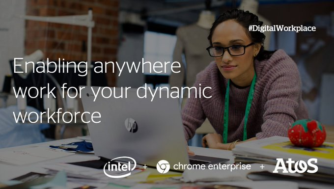 As leaders in #digitalworkplace, @Intel, @Google and Atos help empower your anywhere...