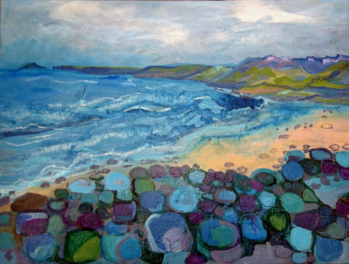 DAY OR NIGHT I LOVE THE SEA Just like my paintings of the Cape in #Cornwall  #landscape #rocks #shoreline #distancepic.twitter.com/yH9h5vJ5JW