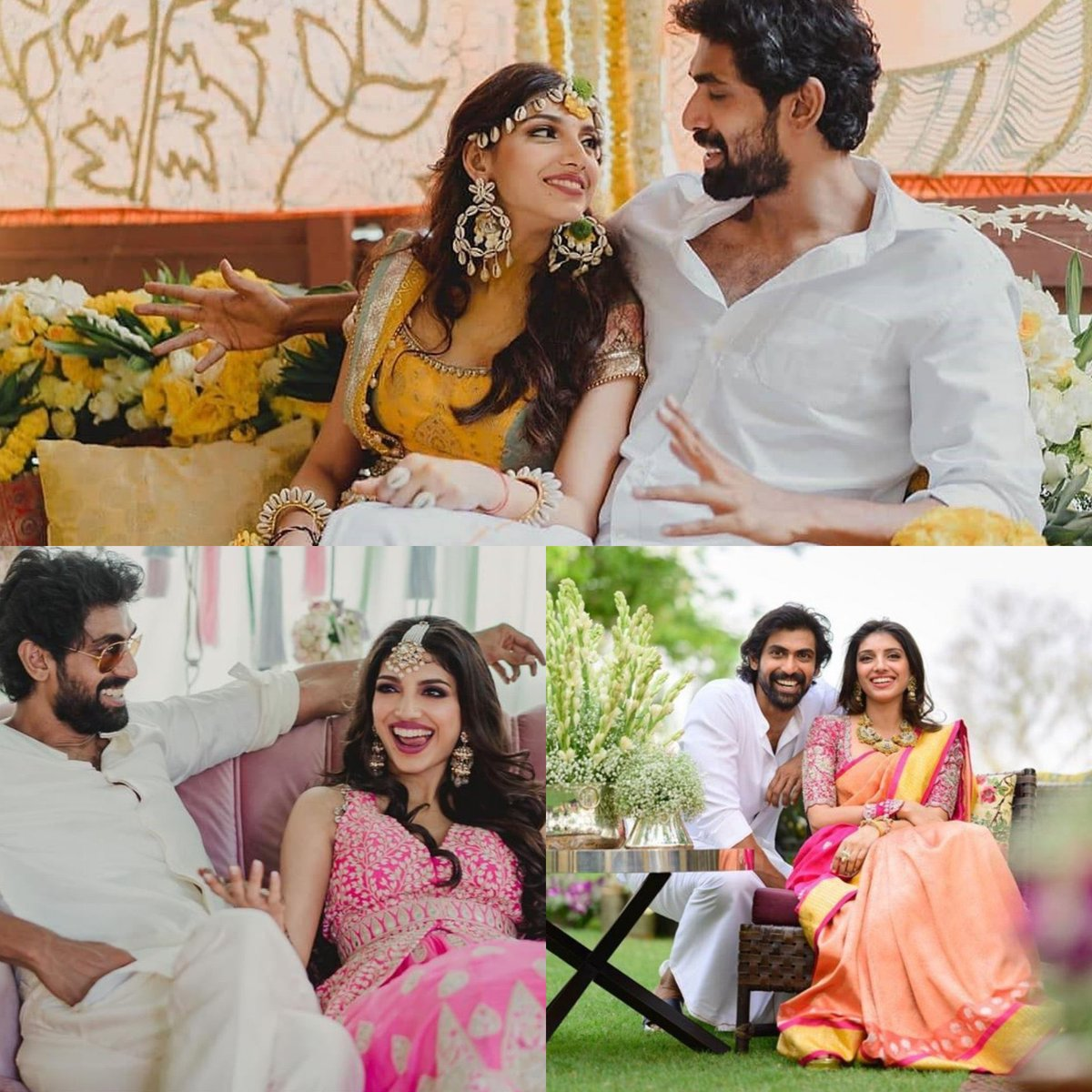 Congratulations brother @RanaDaggubati and miheeka. When everyone wanted to know who? U showed the world with lots of joy and the happiness is sealed forever. God bless you both. Looking beautiful and just made for each other.