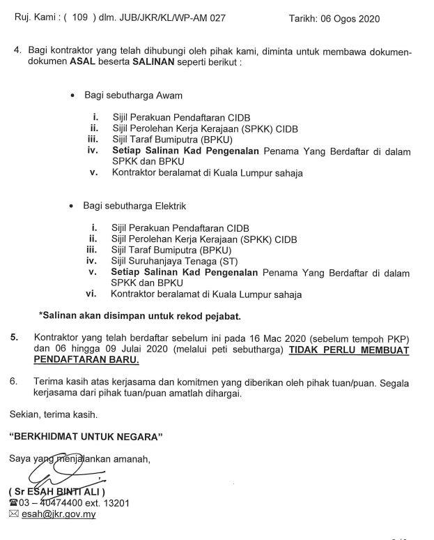 Jkr Kuala Lumpur On Twitter Hebahan Pendaftaran Kontraktor G1 G2 G3 Bagi Kontraktor Kerja Awam Elektrik Dan Mekanikal Jkr Wpkl