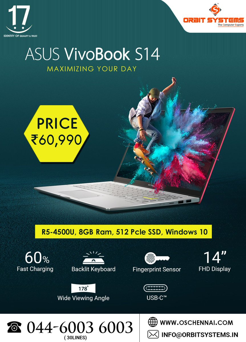 Orbit Systems Online Computer Shopping #asus #offer #independenceday #corona For more Details: https://t.co/c3mdqZZONT Phone Number: 044 6003 6003 Cell Number: +91 99627 50010 https://t.co/khmskektDi