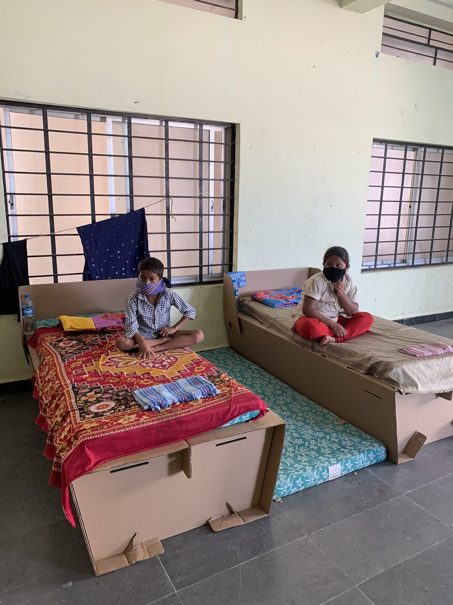 It is really depressing to see kids at the Covid care centers. Some of the kids are tagging along with parents even if Covid -ve as they cannot leave their parents. https://t.co/OXDlePvCJJ