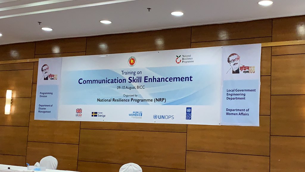 Communication Skill Enhancement of National Resilience Programme. #UNDP #UKAID #Sverige #UNOPS #UNWOMENpic.twitter.com/uYDKOexufa