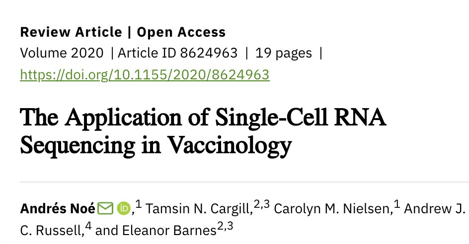 If you want to know more about the potential uses of scRNA-Seq in vaccinology please have a look at our  review! It was an absolute pleasure to work with such a great team! https://t.co/gIVYNjKFy5