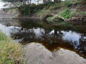 Photo of Athi-Galana river water taken 10/08/2020