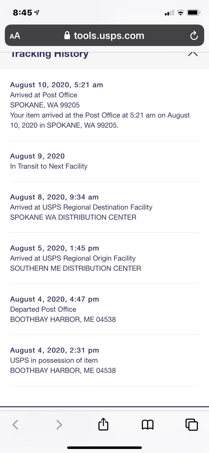 Elizabeth Thorp On Twitter So Usps Priority Mail Service Is Now Taking 6 Days This Is More Than A Little Alarming Garypeters Savetheusps