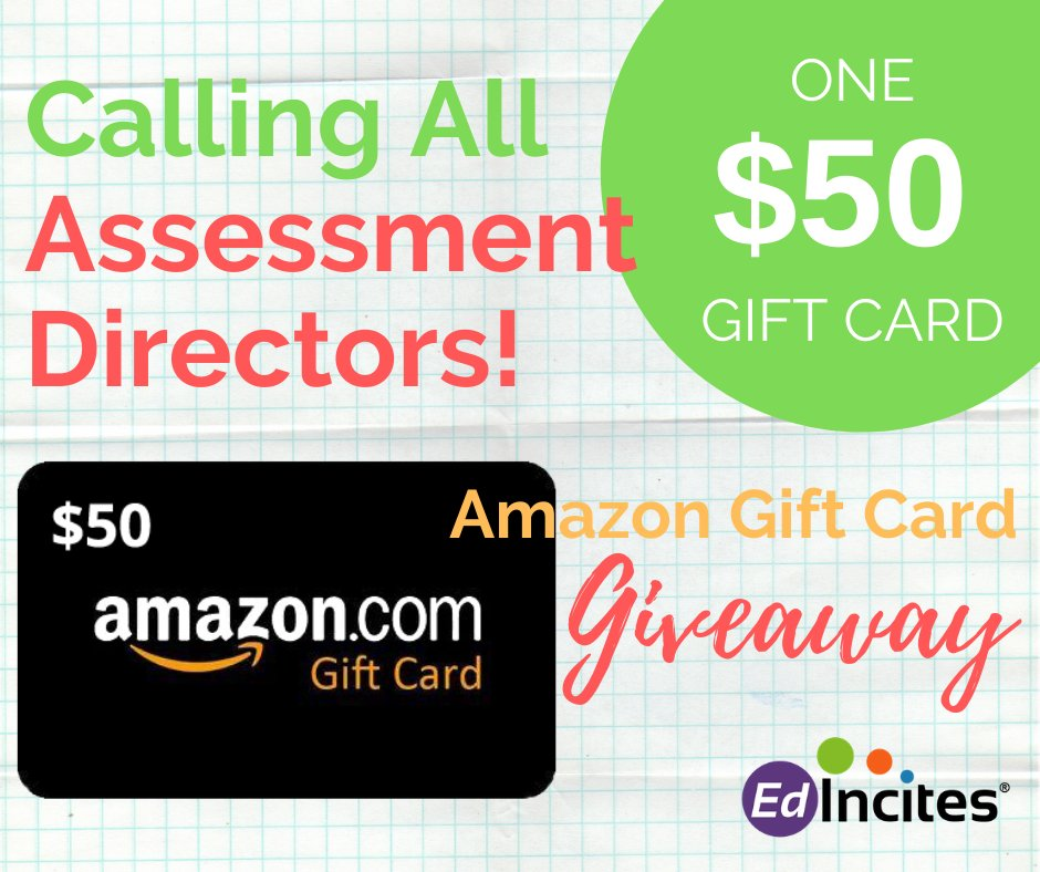 Are you involved with #assessment at your district? Head over to our Facebook page to see how you could win a $50 Amazon gift card! http://bit.ly/2Od3CP2   #backtoschool #edchat #giveaway #testingpic.twitter.com/lrtYZGK6tg