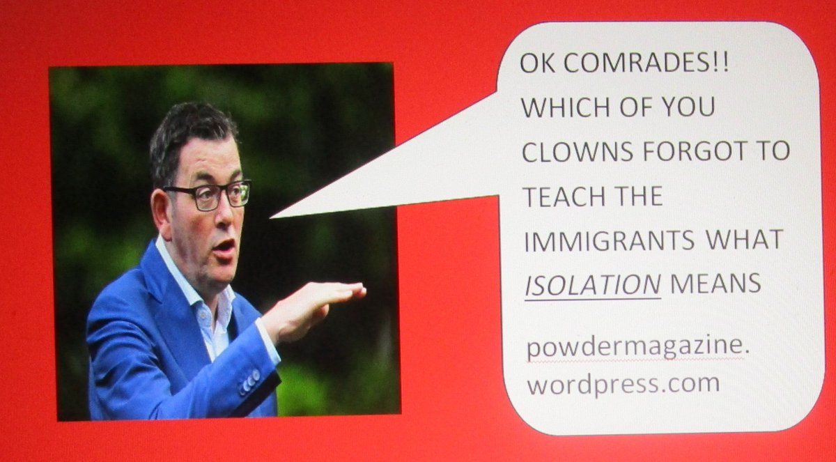 Andrews let people avoid tests, protest in a congested march, escape quarantine, refused ADF help, now a disaster & depression - for the rest of Aus. Can intellectually challenged leaders like this rule!? Click on the trusted emag: http://powdermagazine.wordpress.com  for some real leadershippic.twitter.com/ceTx5P6gxM