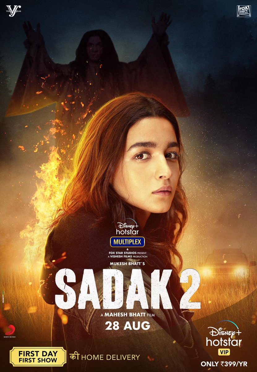 """Asli himmat woh hoti hai, jo darr ke bawajood bhi, jutaani padti hain""  #Sadak2 Trailer out tomorrow. Stay tuned! @aliaa08 #AdityaRoyKapur @duttsanjay @poojab1972 @maheshnbhatt #MukeshBhatt #SuhritaSengupta @wrkprint @sonymusicindia @makaranddeshpa6 @sonymusicindia @foxstarhindi"