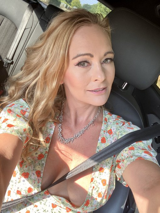 On my way to today's shoot.  What is under this dress?  Not much xx   https://t.co/zS5xco6gnZ https://t