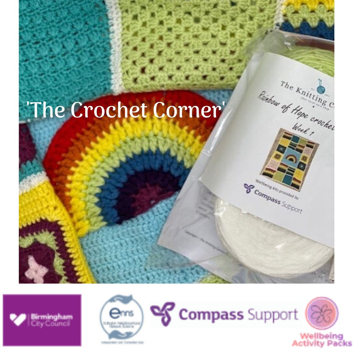**Sign up TODAY** The amazing The Knitting Corner have designed and created the weekly patterns for those who sign up to our FREE 'Crochet Corner' weekly packs. For more info, text or call Leonie on 07943 079 496 or email leonie.hammond@compass-support.org.uk pic.twitter.com/PcKx8Re2U6