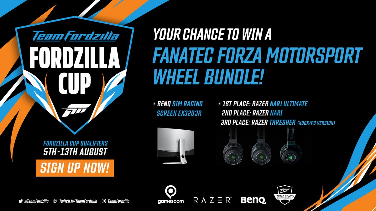 Race your quickest lap in the #FordGT around Spa on #ForzaMotorsport7 & enter your time on http://teamfordzilla.com.    Be in with a chance of winning a PRO contract with #TeamFordzilla & a brand new @BenQEurope and @razer  set-up.   Think you're fast enough?  #FordzillaCuppic.twitter.com/VUtVwhkgph