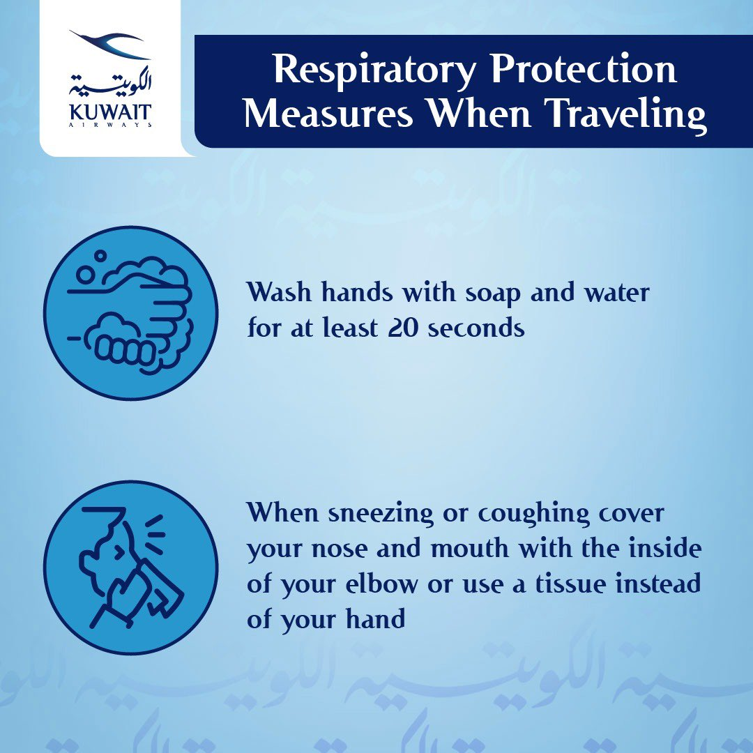 تدابير الحماية من أمراض الجهاز التنفسي أثناء السفر . Respiratory protection measures when traveling #اكيد_نقدر #الطائر_الازرق https://t.co/BymzCDVq4J