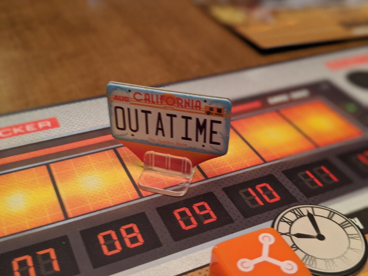 Put the soundtrack on, because this game is worth your time! Back to the Future: Dice Through Time was so much fun last night. We almost didn't make it out alive on easy, but that flux capacitor made all the difference.  @RavensburgerNApic.twitter.com/yvMo4oQsQn