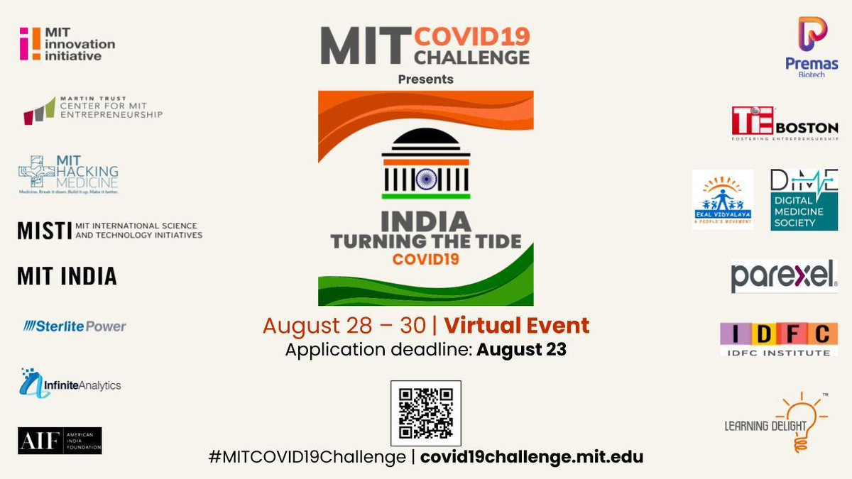 @PremasBiotech is partnering with an all-volunteer organizing team of @MIT as part of the @MITvsCOVID19, a virtual hackathon series.  The series will focus on the health and economic situation in India & its impact on underserved population in particular.